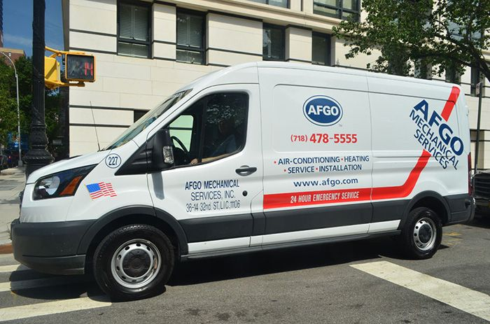 AFGO Mechanical Services' Van